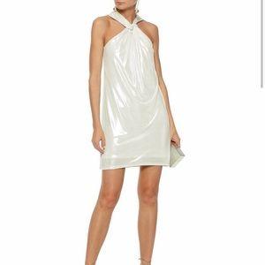 NWT! Halston Heritage Twist Front Mini Dress